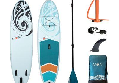 MOAI 10'6 package, US Finbox, Fiberglass paddle.