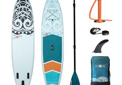 MOAI 11' package, US Finbox, Fiberglass paddle.