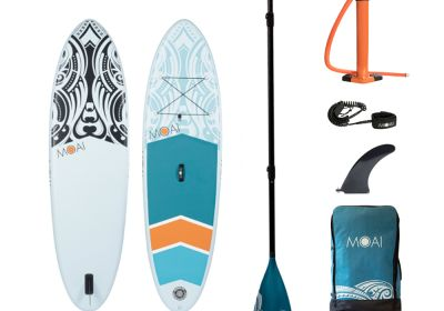MOAI 9'5 package, US Finbox, Fiberglass paddle.